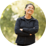 Portrait of a fit Asian woman exercising